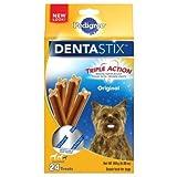Best Pedigree Toys For Small Dogs - PEDIGREE Dentastix Toy/Small Dog Treats, Original, 24 Treats Review