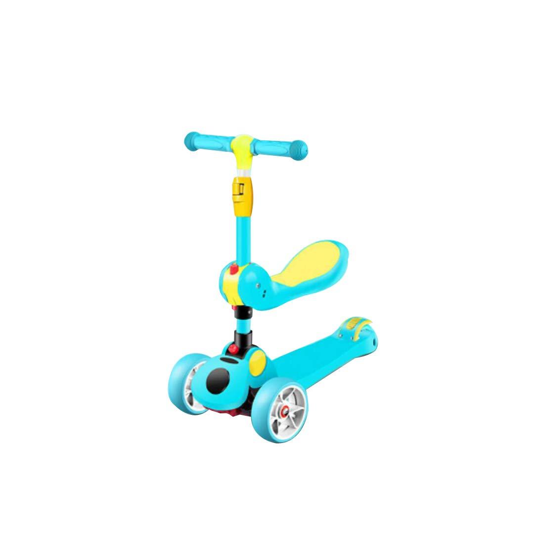 一流の品質 TLMYDD フットペダルの子供のスクーターの音楽ライトワンボタン折りたたみ新しいスリーインワンベビースクーター 子供スクーター TLMYDD (色 : B07NMQQKB8 青) B07NMQQKB8 青) 青, ホビーゾーン:177e9c36 --- a0267596.xsph.ru