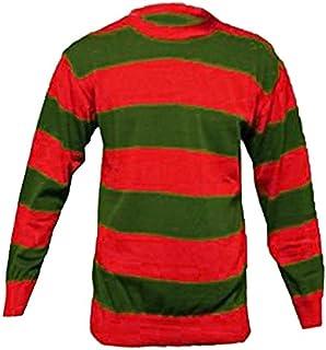 Oromiss, costume di Halloween, maglione a strisce di Freddie Krueger, personaggio del film Nightmare, con il guanto con artigli