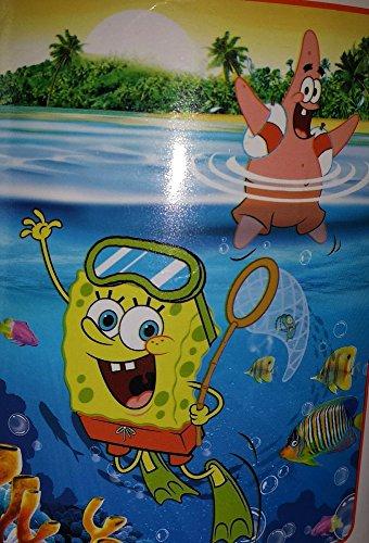 Nickelodeon SpongeBob Squarepants Sea Adventure Plush Throw; 46
