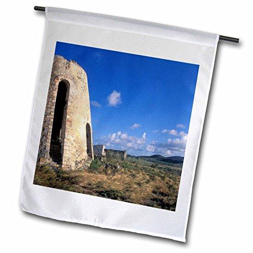3dRose US Virgin Islands, St. Croix. Sugar Mills Plantation - Bill Bachmann - Garden Flag, 12 by 18