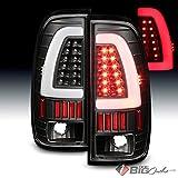 1997-2003 F150, 1999-2007 F250/F350 Black Fiber-Optic-Light-Bar LED Tail Lights 2000 2001 2002 2003 Pair L+R