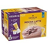 Gevalia Mocha Latte Espresso Keurig K Cup Coffee Pods & Froth Packets (6 Count)