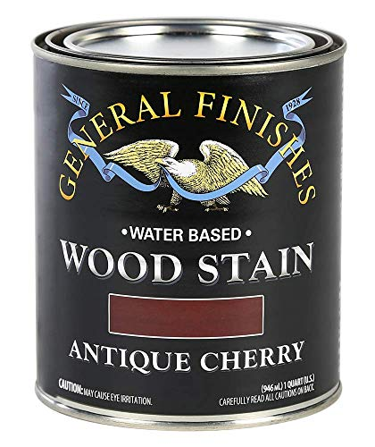 General Finishes WCQT Water Based Wood Stain, 1 Quart, Antique Cherry