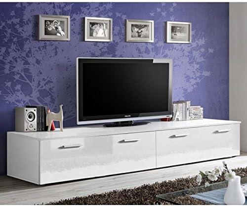 Paris Prix Meuble Tv Design Duo 200cm Blanc Amazon Fr Cuisine Maison
