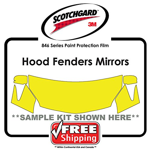 Any CAR - 3M Scotchgard 846 Series - Hood Fender Tips Mirrors Paint Protection Film - Hood Paint