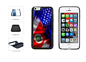 Costa Rica and USA Mixed Flag Dual Layer Phone Case Back Cover Apple iphone 5c inches screen) includes diy case Cloth and Warranty Label