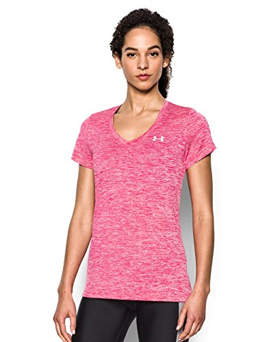 Under Armour Women's Tech Twist V-Neck, Knock Out (656), Small