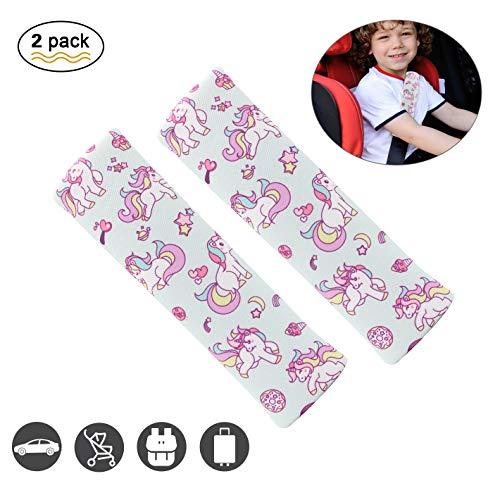 Helen Butler Unicorn Car Seatbelt Pads, Cotton Blend Seat Safety Belt Strap Covers Shoulder Pads for Car Bag, More Comfortable Driving (2 ()