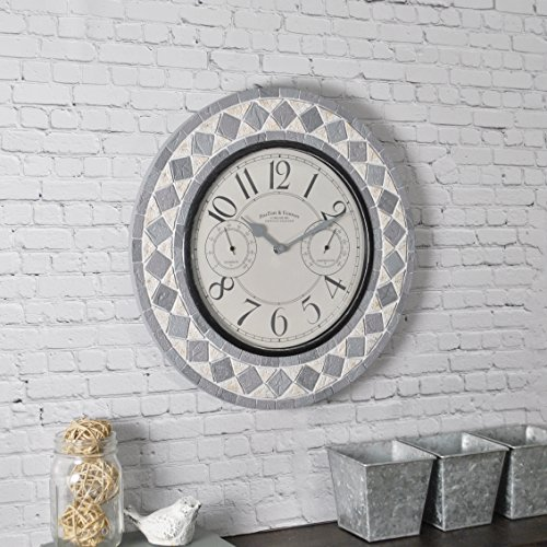 FirsTime & Co. 31036 FirsTime Patio Pavers Wall Clock, 15