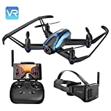 Potensic Drone With VR Glasses, Drone With Camera RC Quadcopter 720P HD Live Video 5.8Ghz FPV 5 Inch Screen Monitor Headless Mode & Altitude Hold Function