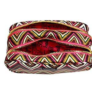 LONDON SOHO NEW YORK Zig Zag Collection Cosmetic Double-Zip Organizer