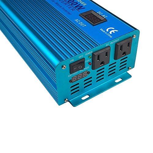 IpowerBingo Car Boat 1200W/2400W(Peak) Pure Sine Wave Solar Power Inverter DC- AC 12V-110V LCD DISPLAY Best quality by IpowerBingo (Image #3)'