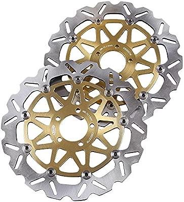gzyf Disco de freno delantero rotores para Kawasaki ZX9R ...
