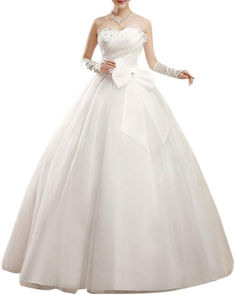 Prinzessin Langes Kleid Trägerlos Hochzeitskleid Mit Schnuerung