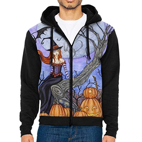 Besioo Men's Hooded Sweatshirt The Halloween Tree Sweater M -