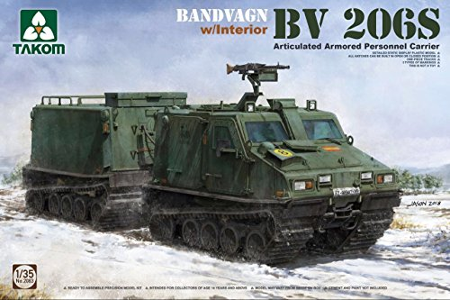 Takom 2083 Bandvagn BV 206S Articulated Armored Personnel Carrier with Interior 1:35 Scale Model Kit ()