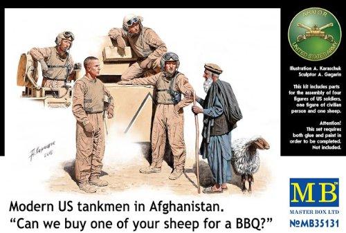 Master Box Models Modern U.S Tankmen in Afghanistan Can We Buy One of You Model Building Kit 1//35 Scale