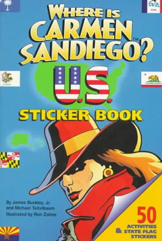 Where Is Carmen Sandiego: U.S. Sticker Book