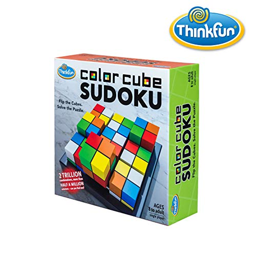 ThinkFun Color Cube Sudoku - Fun, Award Winning Version of Sudoku Using Colors Instead of Numbers For Age 8 and Up