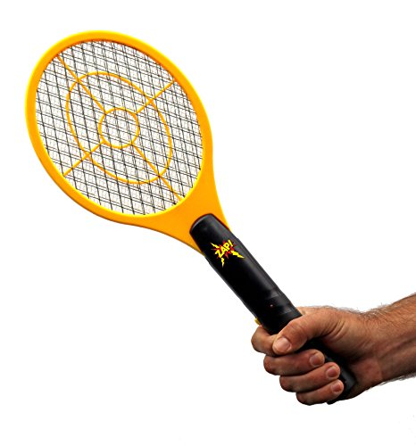 ELECTROZAP Electronic Bug Zapper Racket FLY SWATTER Zapper for Indoor and Outdoor summer fun by ElectroZAP