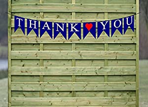 Thank You Paper Wedding Bunting Banner Photo Booth Garland Props Anniversary Bridal Garland Bunting Party Decoration Banner from Cake Supply Shop