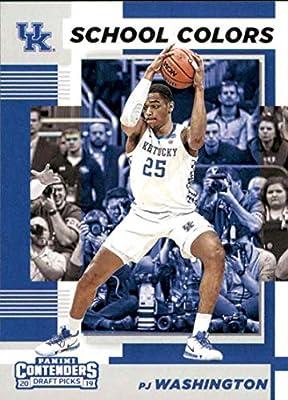 2019-20 Panini Contenders Draft Picks School Colors #15 PJ Washington Jr. Kentucky Wildcats RC Rookie Basketball Trading Card