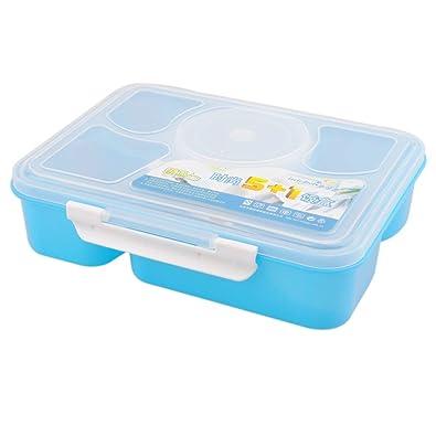 Heaviesk Microondas Bento Lunch Box para niños 5 + 1 Contenedor de ...