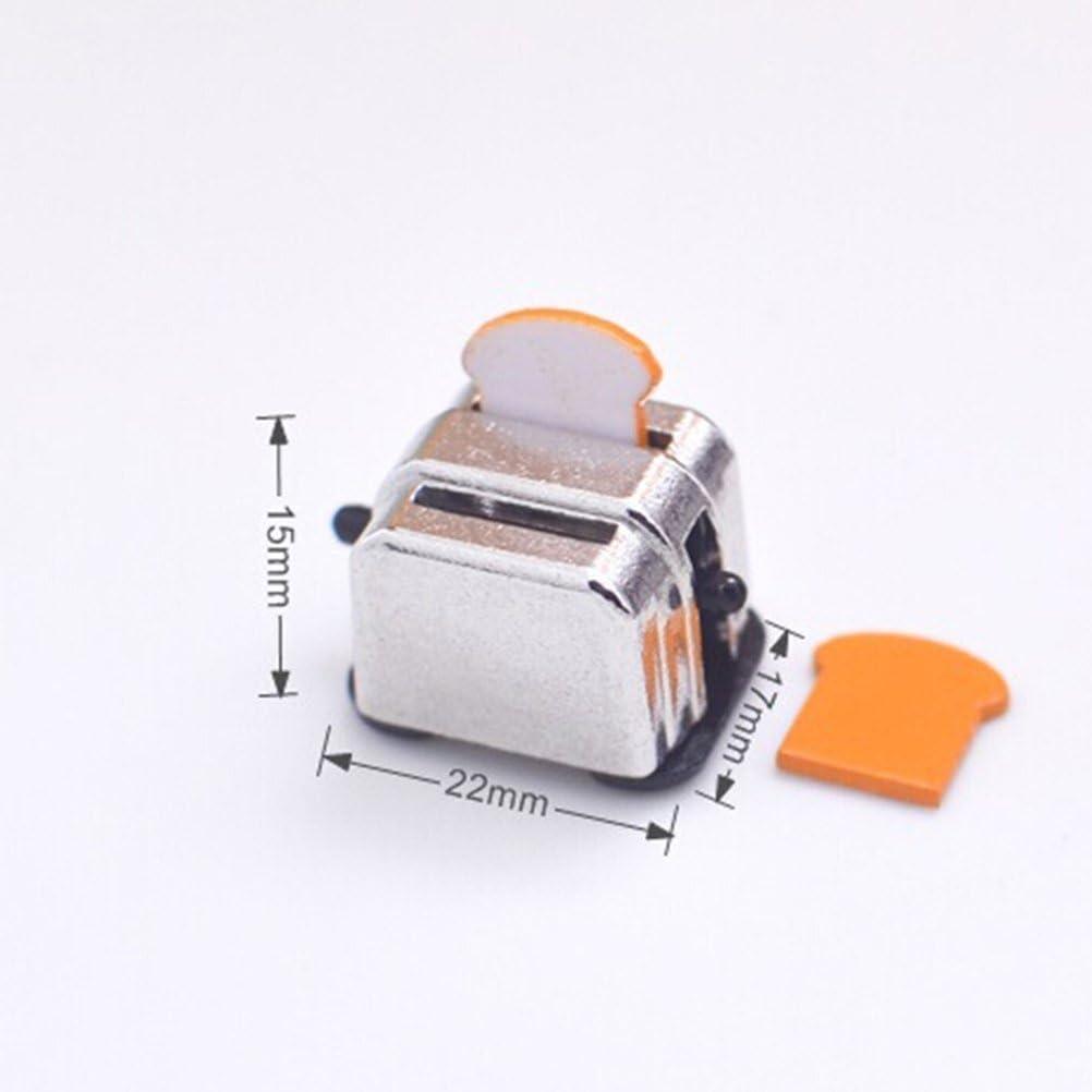 1 St/ück Simulation 1//12 Puppenhaus Miniatur Dekoration Brotbackautomat mit 2 St/ück Brot