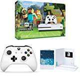 Xbox One S 500GB Console - Minecraft + Extra Controller + $50 Amazon Gift Card Bundle
