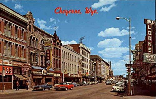Highway Triangle (Sixteenth Street, U. S. Highway 30 Cheyenne, Wyoming Original Vintage Postcard)
