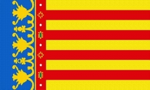 U24 Aufkleber Valencia Flagge Fahne 8 X 5 Cm Autoaufkleber Sticker Auto