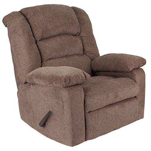 - Flash Furniture Contemporary Super Soft Jesse Cocoa Chenille Rocker Recliner