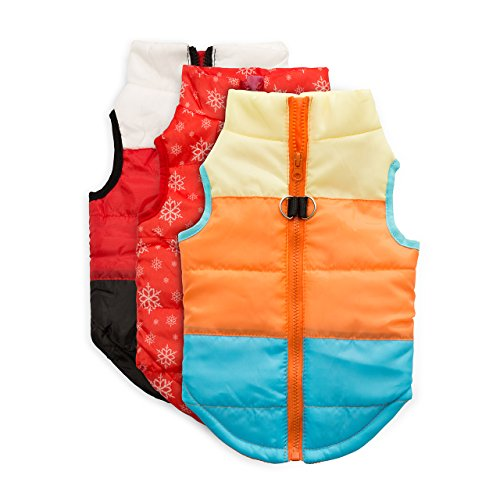 Petetpet Pet Dog Padded Coats and Sweaters Warm Vest Harness Jackets for Christmas Holiday Festive in Cold Winter Apply to Small Breed Dogs and Cat