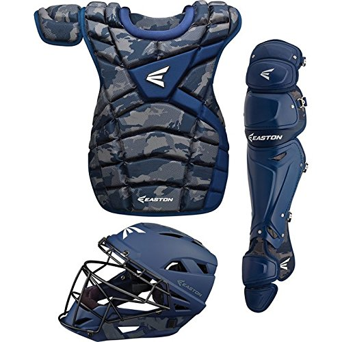 Easton M10 Custom Intermediate Baseball Catcher's Set, Navy (Intermediate Set)
