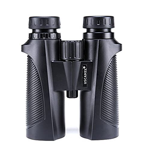 USCAMEL 8x42 Binoculars, Waterproof and Dustproof, Birdwatching and Outdoors Hunting, Black