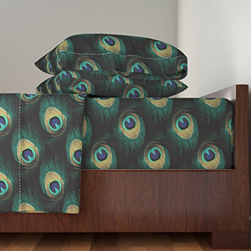 Roostery Peacock 4pc Sheet Set You're So Vain, You Probably