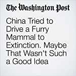 China Tried to Drive a Furry Mammal to Extinction. Maybe That Wasn't Such a Good Idea | Simon Denyer