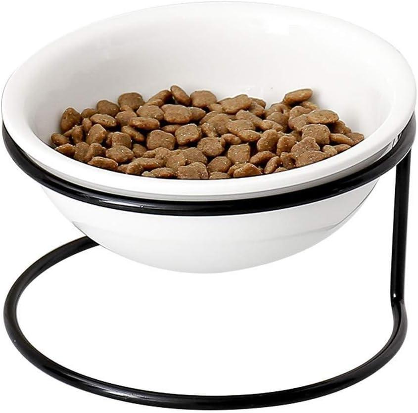 YWSZJ Agua y Alimentos for Mascotas elevada vibratorio con Soporte de Metal elevadas Antideslizante, Apto for lavavajillas