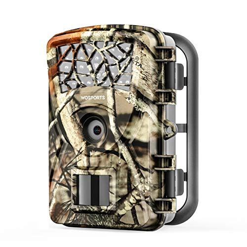 WOSPORTS Trail Game Camera, 1080P Waterproof Hunting Scouting Cam for Wildlife Monitoring with Night Vision 2.4
