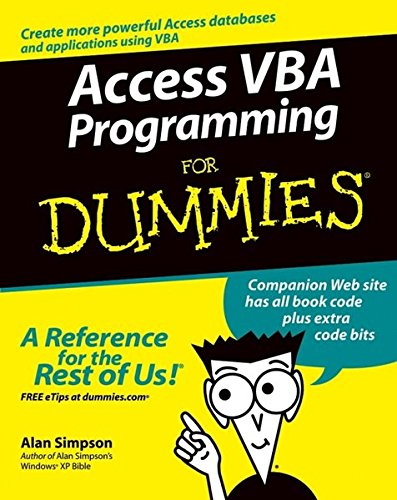 Access VBA Programming for Dummies ISBN-13 9780764574115