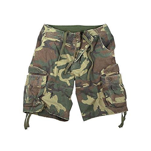 - Rothco Vintage Infantry Shorts, Woodland, 2X