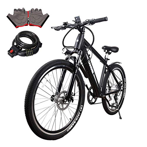 NAKTO Electric Bike Mountain Ebike with 300W/350W/500W 36V/48V Lithium Battery (10A350W36V)