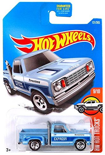 Hot Wheels 2017 HW Hot Trucks 1978 Dodge Li'L Red Express Truck 131/365, Light Blue 1978 Dodge Lil Red Express Truck