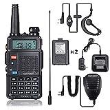 8Watt Ham Radio Handheld (UV-5R 3rd Gen) Uhf VHF Radio 2 Way Radio High Power Dual Band Walkie Talkies