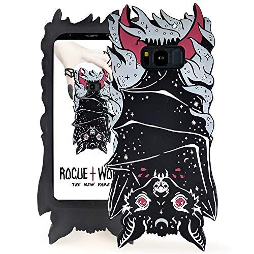 Rogue + Wolf Cute 3D Vamp Bat Samsung S8 Case Kawaii Galaxy S8 Phone Cases for Girls Silicone Protective Cover (Samsung S8)