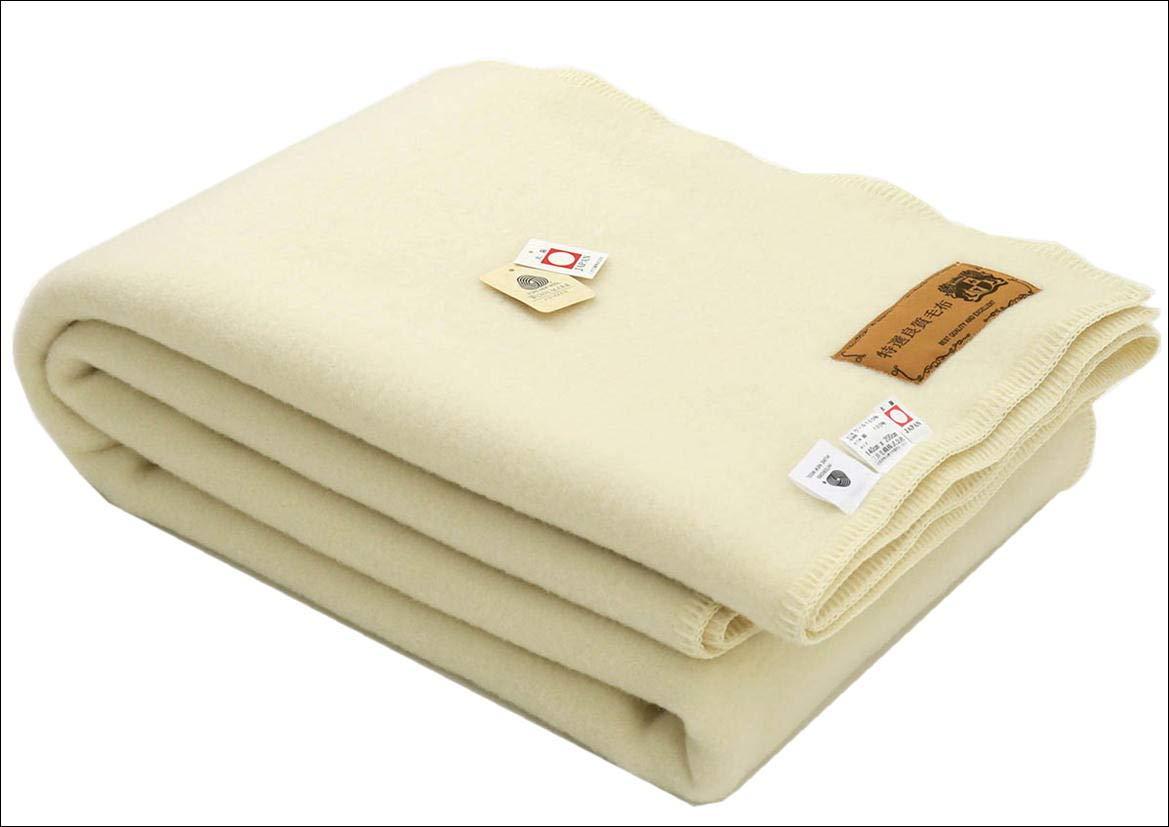 あたたかい毛布 スリープ イン ウール 毛布 ウール100%毛布 ダブルサイズ 180x210 cm 公式三井毛織 国産E882S B077DD64TH