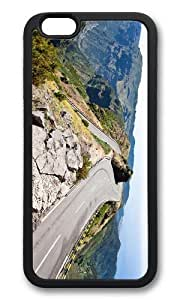MOKSHOP Adorable Alpine Road In Summer Soft Case Protective Shell Cell Phone Cover For Apple Iphone 6 Plus (5.5 Inch) - TPU Black