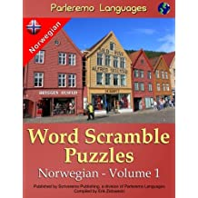 Parleremo Languages Word Scramble Puzzles Norwegian - Volume 1