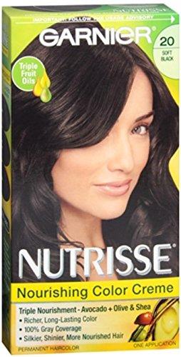 Garnier Nutrisse Nourishing Creme #20 Soft Black Hair Color